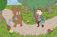 【イラスト心理テスト】森の中でクマさんに出会ったら?