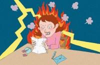 【イラスト占い】怒り耐性が判る「怒り心頭!この女性は、なぜ怒っている?」