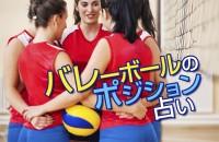 ルールは、男子女子同じ。あなたの適性と役割はコレ「バレーボールのポジション占い」