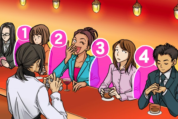 【画像性格占い】ひとりでバーに!どこに座る?<女性編>
