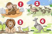 【イラスト心理テスト】あなたの抱いている理想が判る、性格占い「一番ステキな動物の親子は?」