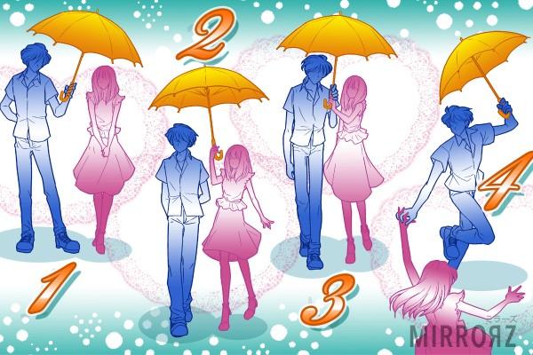 【イラスト性格診断】恋愛観がわかる相合傘タイプ診断 (女性用)