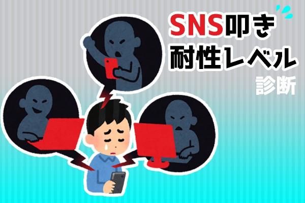 SNS叩き耐性レベル診断